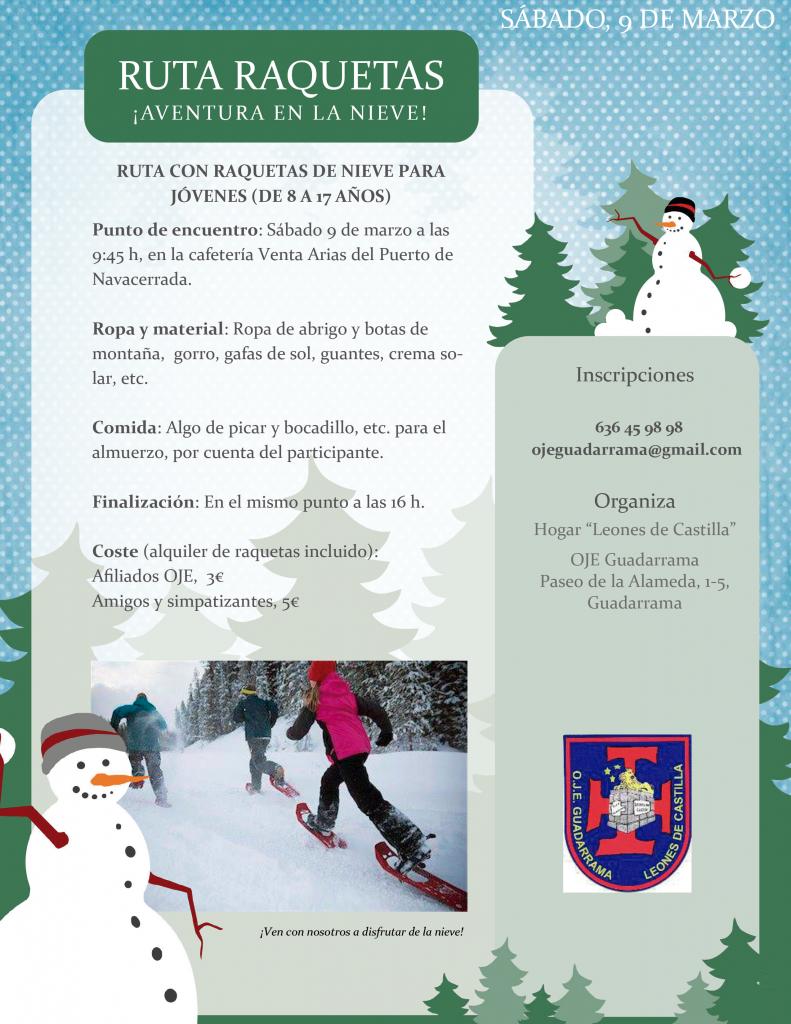 Actividad raquetas nieve-oje